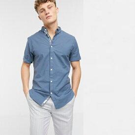 メゾン刺繍 リバーアイランド 半袖 シャツ トップス メンズ 20代 30代 40代 ファッション コーディネート小さいサイズから大きいサイズまで オシャレ トレンド インポート トレンド