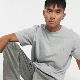 グレー Carhartt WIP Chase Tシャツ メンズ 20代 30代 40代 ファッション コーディネート 小さいサイズから大きいサイズまで オシャレ トレンド インポート トレンド