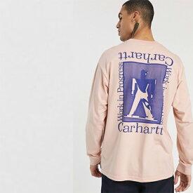 Carhartt WIP Foundation 長袖 トップ ピンク メンズ 20代 30代 40代 ファッション コーディネート 小さいサイズから大きいサイズまで オシャレ トレンド インポート トレンド