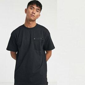 Carhatt WIP ミリタリー メッシュ ポケット Tシャツ(ブラック) メンズ 20代 30代 40代 ファッション コーディネート 小さいサイズから大きいサイズまで オシャレ トレンド インポート トレンド