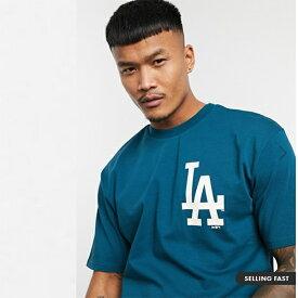 New Era MLB Los Angeles Dodgers オーバー サイズ Tシャツ(ブルー) メンズ 20代 30代 40代 ファッション コーディネート 小さいサイズから大きいサイズまで オシャレ トレンド インポート トレンド