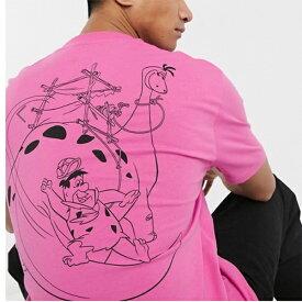 ASOS DESIGN Flintstones バックプリント リラックス Tシャツ メンズ 20代 30代 40代 ファッション コーディネート 小さいサイズから大きいサイズまで オシャレ トレンド インポート トレンド
