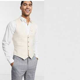 ASOS DESIGN リネン チョッキ ベスト 20代 30代 40代 ファッション コーディネート 小さいサイズから大きいサイズまで オシャレ トレンド インポート トレンド