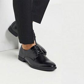 ブラック New Look スマート オックス フォード シューズ 20代 30代 40代 ファッション コーディネート  オシャレ トレンド インポート トレンド