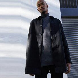 ASOS DESIGN ウール ミックス コート ブラック インポート 大きいサイズ 20代 30代 40代 インポート ブランド
