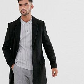 ブラック New Look オーバー コート インポート 大きいサイズ 20代 30代 40代 インポート ブランド