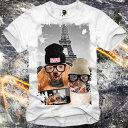 E1SYNDICATE(イーワンシジケート)メガネ dog cat ドッグ キャット 猫 犬 ダックスフント Tシャツ 20代 30代 ファッション コーディネート オシャレ トレンド T-シャツ 日