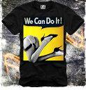 E1SYNDICATE(イーワンシジケート)私たちがやることができます ガール アメリカン Tシャツ 20代 30代 ファッション コーディネート オシャレ トレンド T-シャツ 日本未入荷 インポー