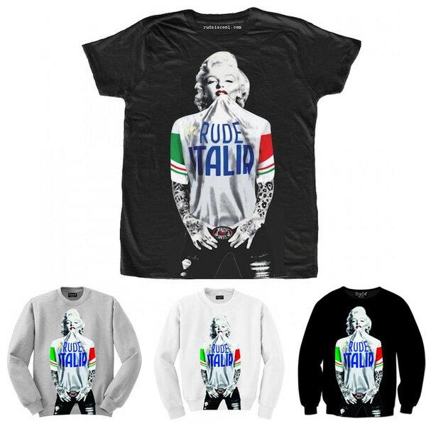 RUDE(ルード)ITALIAN イタリアン バスケ Tシャツ ホワイト ブラック 20代 30代 40代 ファッション コーディネート 大きいサイズ 日本未入荷 インポートブランド 半袖 メンズ カジュアル ユニセックス メンズ 大人 男性 女性 レディース 20代 30代 40代