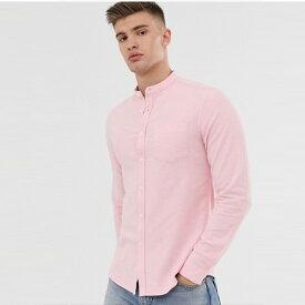 ASOS メンズ トップス 長袖 ピンクシャツ シャツ ブラウス 20代 30代 40代 ファッション コーディネート小さいサイズから大きいサイズまで オシャレ トレンド Tシャツ インポート トレンド 京都のセレクトショップdivacloset
