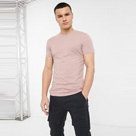 ASOSセレクト New Look asos ASOS エイソス メンズ New Look 淡い ピンク 筋肉 フィット Tシャツ 大きいサイズ インポート エクストリームスーパースキニーフィット スウェットパンツ ジーンズ ジーパン 20代 30代 40代 ファッション コーディネート