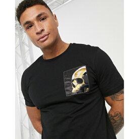 ASOSセレクト River Island asos ASOS エイソス メンズ River Island ブラック 迷彩 ポケット付き Tシャツ 大きいサイズ インポート エクストリームスーパースキニーフィット スウェットパンツ ジーンズ ジーパン 20代 30代 40代 ファッション コーディネート