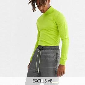 ASOSセレクト COLLUSION asos ASOS エイソス メンズ COLLUSION ライムグリーン ロールネック ジャンパー 大きいサイズ インポート エクストリームスーパースキニーフィット スウェットパンツ ジーンズ ジーパン 20代 30代 40代 ファッション コーディネート