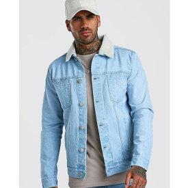 boohoo(ブーフー)メンズ オフィシャル デニム ジャケット 長袖 大きいサイズあり 流行 最新 メンズカジュアル ファッション アウター