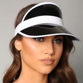 LA発!FASHION NOVA (ファッションノバ) インポートブランド サンバイザー ブラック 帽子 日本未入荷 流行 最新 メンズカジュアル フェス ファッション レディース トレンド