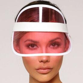 LA発!FASHION NOVA (ファッションノバ) インポートブランド サンバイザー ピンク 帽子 日本未入荷 流行 最新 メンズカジュアル フェス ファッション レディース トレンド