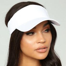 LA発!FASHION NOVA (ファッションノバ) インポートブランド キャンバス素材 サンバイザー ホワイト 帽子 日本未入荷 流行 最新 メンズカジュアル フェス ファッション レディース トレンド