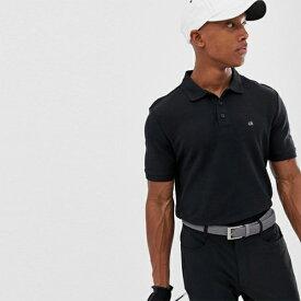 Calvin Klein(カルバンクライン)ゴルフ ゴルフ ラディカル ポロ ブラック ゴルフウェア 日本未入荷 インポートブランド 20代 30代 40代 高身長