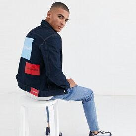 Calvin Klein カルバンクライン デニム ジャケット Gジャン トレンド インポート 大きいサイズあり 流行 最新 メンズカジュアル 小さいサイズあり
