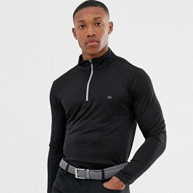 Calvin Klein カルバンクライン カルバンクラインゴルフ ハーレム ハーフジップ ブラック インポート 大きいサイズあり 流行 最新 メンズカジュアル 小さいサイズあり