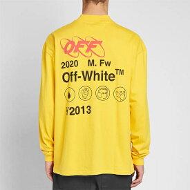 OFF-WHITE オフホワイト Off white メンズ トップス オフホワイト インダストリアル Y013 ジップ モックネックティー オシャレ トレンド Tシャツ インポート トレンド【京都のセレクトショップdivacloset】