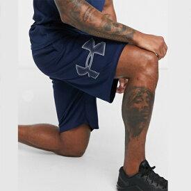 アンダーアーマー Under Armour スポーツ ネイビー ロゴ ショーツ 大きいサイズあり 流行 最新 メンズカジュアル ファッション フィットネス
