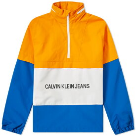 Calvin Klein カルバンクライン メンズ トップス カラーブロック ナイロン プルオーバー フーディー 20代 30代 40代 ファッション コーディネート XXS〜XXXL オシャレ トレンド Tシャツ 半袖 インポート トレンド