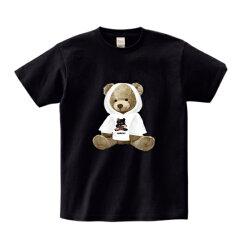 フォトtフォトTフォトプリントベアプリントTシャツブラックホワイト半袖T-shirtsコットンシャツ黒大人メンズ男性オシャレ40代30代プリントtシャツフォトプリントメンズtシャツ大きいサイズレディースフォトTシャツedmフェスファッション