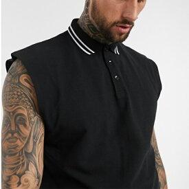 ASOS DESIGN オーバーサイズ ノースリーブ ピケ ポロシャツ コーディネート 20代 30代 40代 ファッション コーディネート
