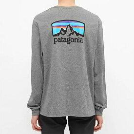 PATAGONIA パタゴニア patagonia ロンT グラベルヘザー メンズ コットン トップス プルオーバー メンズ 長袖 ロングスリーブ フェス トレンド インポート 大きいサイズあり 流行 最新 メンズカジュアル