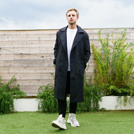 アウター トレンチコート ブラック ジャケット デニム レギュラーフィット メンズ 大きいサイズ インポート トレンド 20代 30代 40代 ファッション コーディネート オシャレ カジュアル 韓国系
