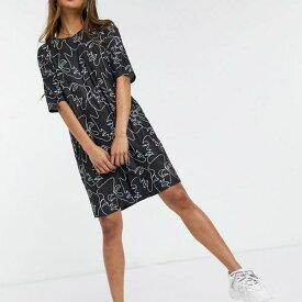 アーバンスレッド特大アイプリントTシャツドレス(黒) トップス レディース 女性 インポートブランド 小さいサイズから大きいサイズまで