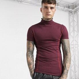 ASOS エイソス asos メンズ トップス ASOS DESIGN Tシャツ t-shirts タートルネック マッスルフィット 20代 30代 40代 ファッション コーディネート オシャレ カジュアル