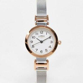 Limit シルバーのリミットメッシュウォッチ 時計 アクセサリー メンズ 男性 インポートブランド