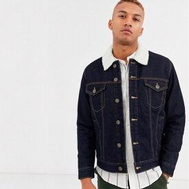 ASOSセレクト asos Celio メンズ デニムジャケット アウター ジャケット 裏地付き トラッカージャケット 20代 30代 40代 ファッション コーディネート小さいサイズから大きいサイズまで オシャレ トレンド Tシャツ インポート トレンド