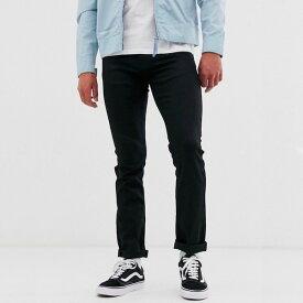 ASOSセレクト Nudie Jeans Co メンズ スリムジーンズ スリム ストレートジーンズ スリムフィット ブラック ストレッチデニム デニム ジーンズ ボトム asos エイソス 大きいサイズ インポート カジュアル アウトフィット フェス