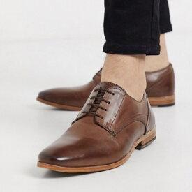 靴 シューズ asos ASOS エイソス メンズ レザーシューズ 本革 革靴 ビジネスシューズ フォーマル スマートシューズ レースアップ 大きいサイズ インポート 20代 30代 40代 ファッション コーディネート
