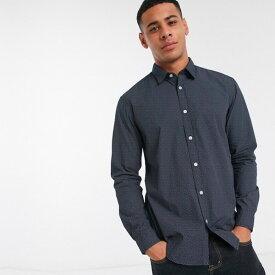 ASOSセレクト Esprit asos ASOS エイソス メンズ トップス Tops シャツ 長袖 プリント ビジネスシャツ スマートシャツ レギュラーフィット 大きいサイズ インポート 20代 30代 40代 ファッション コーディネート
