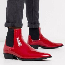 ASOS DESIGN キューバン ヒール ウエスタン ブーツ メンズ 男性 小さいサイズから大きいサイズまで 20代 30代 40代 ファッション コーディネート