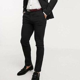 Avail London スキニー フィット スーツパンツ(ブラック) 20代 30代 40代 ファッション コーディネート 小さいサイズから大きいサイズまでオシャレ トレンド インポート トレンド