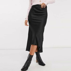 ASOS DESIGN サテン バイアス ミディ スカート レディース 女性 20代 30代 40代 diva 大きいサイズあり 小さいサイズあり