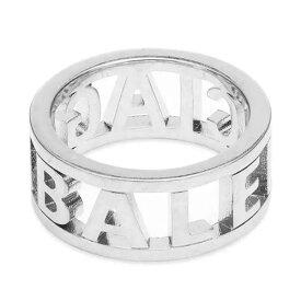 バレンシアガ ロゴ リング 指輪 お洒落 ポイントアクセサリー メンズ インポートブランド
