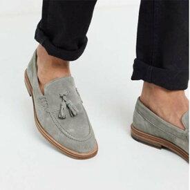 Walk London グレイ スエード ロンドン ウエスト タッセル ローファー 靴 SHOES シューズ メンズ 男性 20代 30代 40代 ファッション コーディネート