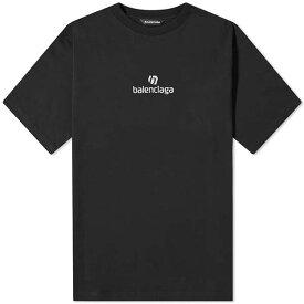 BALENCIAGA バレンシアガ Tシャツ ロゴ 半袖 メンズ コットン トップス メンズ フェス トレンド インポート 大きいサイズあり 流行 最新 メンズカジュアル