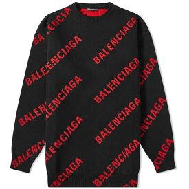 BALENCIAGA バレンシアガ リピート ロゴ クルー ニット メンズ トップス プルオーバー メンズ 長袖 ロングスリーブ フェス トレンド インポート 大きいサイズあり 流行 最新 メンズカジュアル