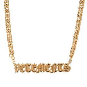 ヴェトモン ベトモン VETEMENTS ゴシック ロゴ ネックレス インポートブランド メンズ ユニセックス 男性