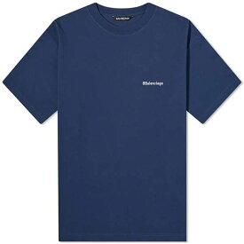 BALENCIAGA バレンシアガ Tシャツ コーポ レート ロゴ 半袖 メンズ コットン トップス メンズ フェス トレンド インポート 大きいサイズあり 流行 最新 メンズカジュアル