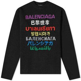 バレンシアガ BALENCIAGA マラソン 言語 インターシャ ニット メンズ トップス プルオーバー メンズ 長袖 ロングスリーブ フェス トレンド インポート 大きいサイズあり 流行 最新 メンズカジュアル