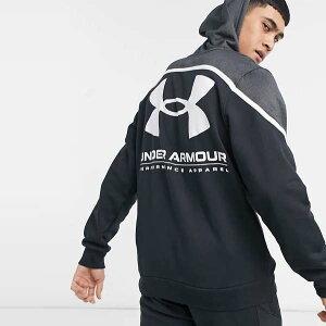 アンダーアーマー Under Armour トレーニング スポーツ ブラック フリース ロゴ パーカー コーディネート 20代 30代 40代 ファッション コーディネート プレゼント