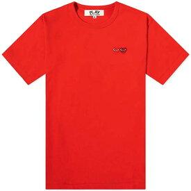 コムデギャルソン COMME DES GARCONS PLAY プレイ ダブル ハート Tシャツ インポートブランド トレンド メンズ 男性 プレゼント 20代 30代 40代